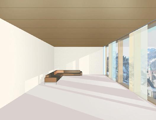 Dunkler Boden Wirkung : Eine dunkle Deckenfarbe kann einen zu hohen Raum optisch niedriger und