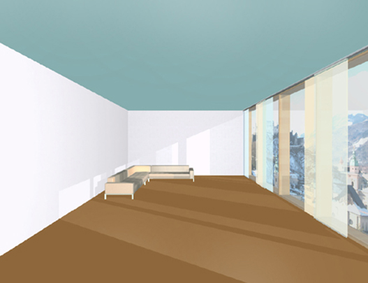 Inpunctofarbe Dunkler Boden Und Dunkle Decke